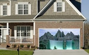 Waterfall garage door screen