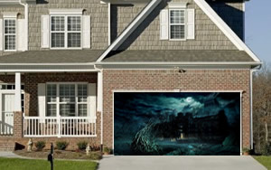 Black Hole Garage Door Screen