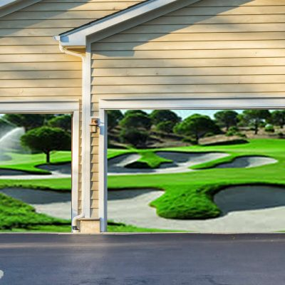 Golf Course Garage Door Screen
