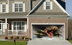 T Rex Garage Door Screen & Vicious Dinosaur Garage Door Screen | My Screen Design Pezcame.Com