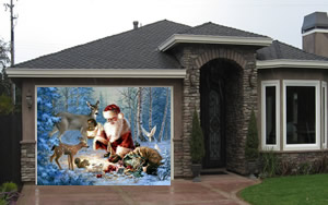 Santa Garage Screen