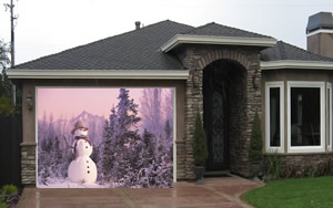 Snowman Garage Screen