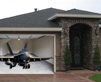 Fighter Jet Garage door image
