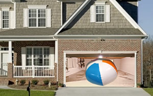 Beach Ball Garage Illusion