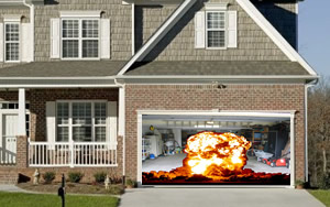 Fireball Garage Door Illusion