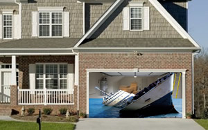 Sinking Ship Garage Door Screen