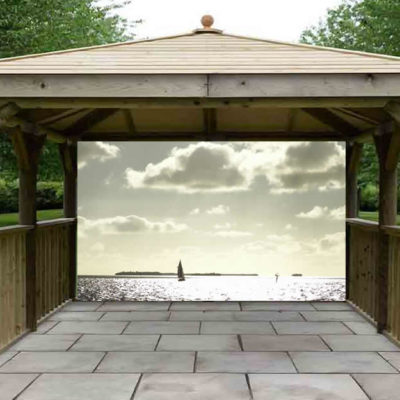 Sailboat in the Sun Gazebo Screen